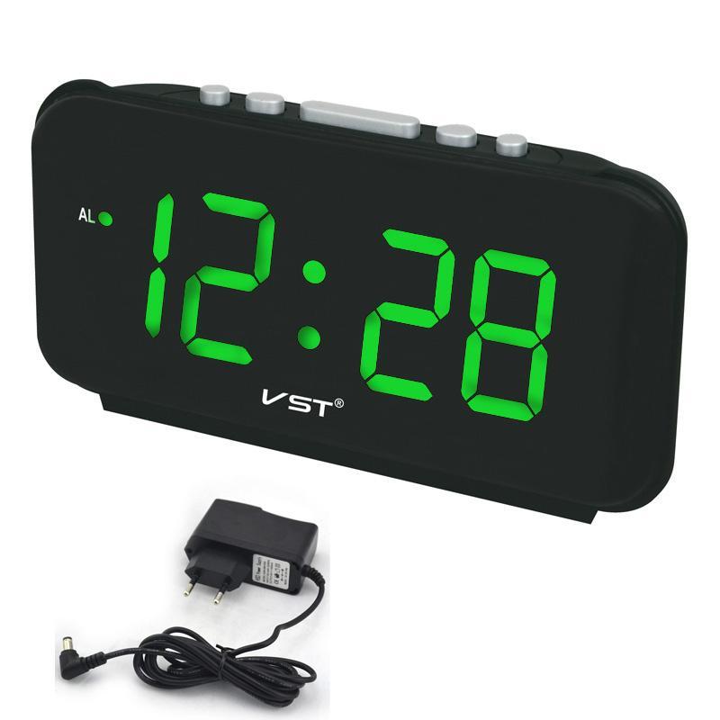 b26ca787a95b Compre Números Grandes Despertadores Digitales EU Plug AC Power Relojes De  Mesa Electrónicos Con 1.8 Gran Pantalla LED Regalo De Decoración Del Hogar  Para ...