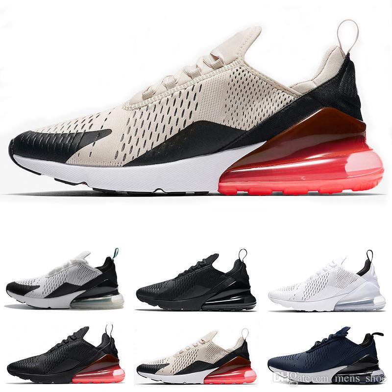 hot sale online 9a453 7feb3 Acheter Nike Air Max 270chaussures De Course Pour Homme LIGHT BONE Hot Punch  Teal BETRUE Triple Noir Blanc Chaussures De Sport Pour Femmes 270s Sneakers  ...