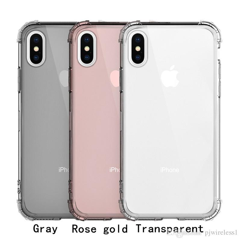 Shockproof Transparent TPU clear mobile phone case Cell Phone case For Samsung Galaxy s9 plus s8 plus A8 plus 2018 A8 2018 B