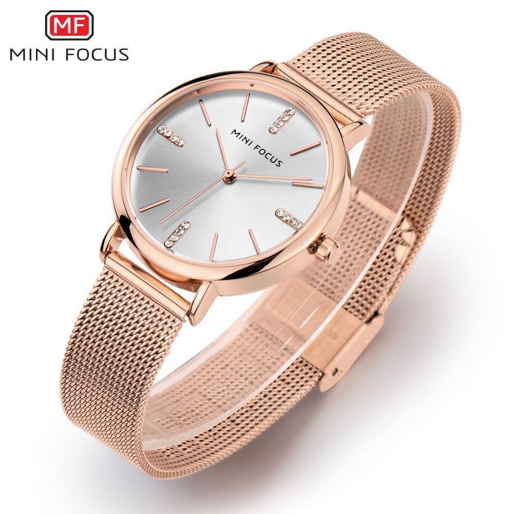 Compre MINI FOCUS Moda Reloj De Cuarzo Relojes De Mujer Señoras Chicas Famosas  Marcas Reloj De Pulsera Reloj Femenino Montre Femme Relogio MF0036L.04 A ... 5d5d39fe2a67