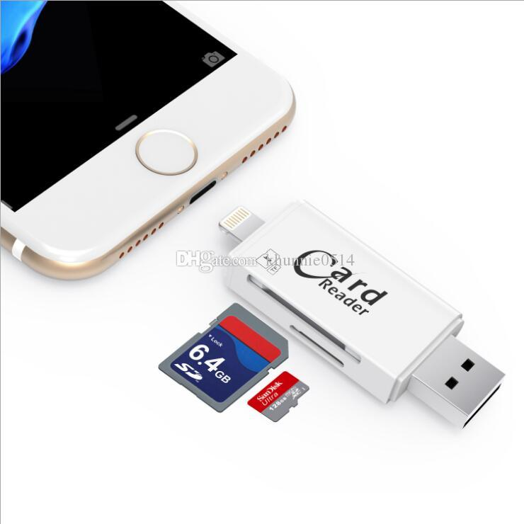 reputable site 76514 bf1b1 3 in 1 i-Flash Drive Multi-Card OTG Reader Micro SD & TF Memory USB Card  Reader Adapter for iPhone 8 7 6 Andriod PC