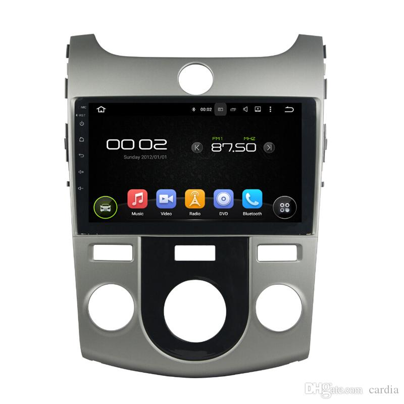 مشغل دي في دي للسيارات لkia CERATO FORTE MT full touch 8INCH 4GB RAM Andriod 8.0 مع GPS ، تحكم عجلة القيادة ، Bluetooth ، راديو