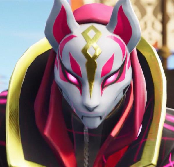 Kitsune Fortnight Mask Drift Fox Pvc Mask Fortnite Battle Royale