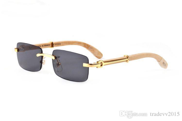 14 개 색상 핫 판매 여성 명품 안경 안경 크기 무테 숲 선글라스 천연 검은 물소 뿔 남성의 안경 : 55-140mm