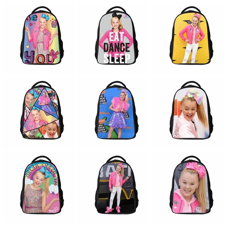 Jojo Siwa Backpack Kids Book Bags Casual Travel Shoulder bag School Bags for Teenage Girls Daily Backpacks GGA1191