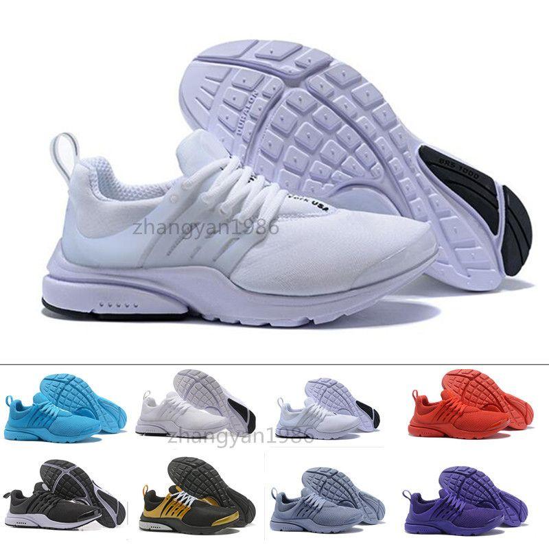 new arrival cc8ae 843ff Acheter Nike Air Max Presto 2018 Chaussures Décontractées PRESTO BR QS  Breathe Jaune Noir Blanc Hommes Femmes Ports Chaussures Sneakers Chaussures  De ...