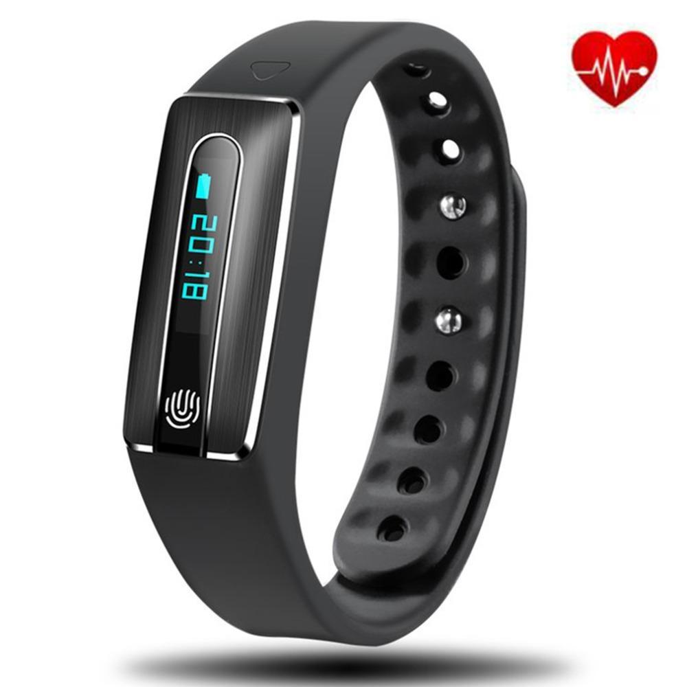 Schrittzähler Wasserdicht Schrittzähler Bluetooth Laufende Sport Fitness Armband Schlaf Monitor Intelligente Oled Touchpad Herz Rate