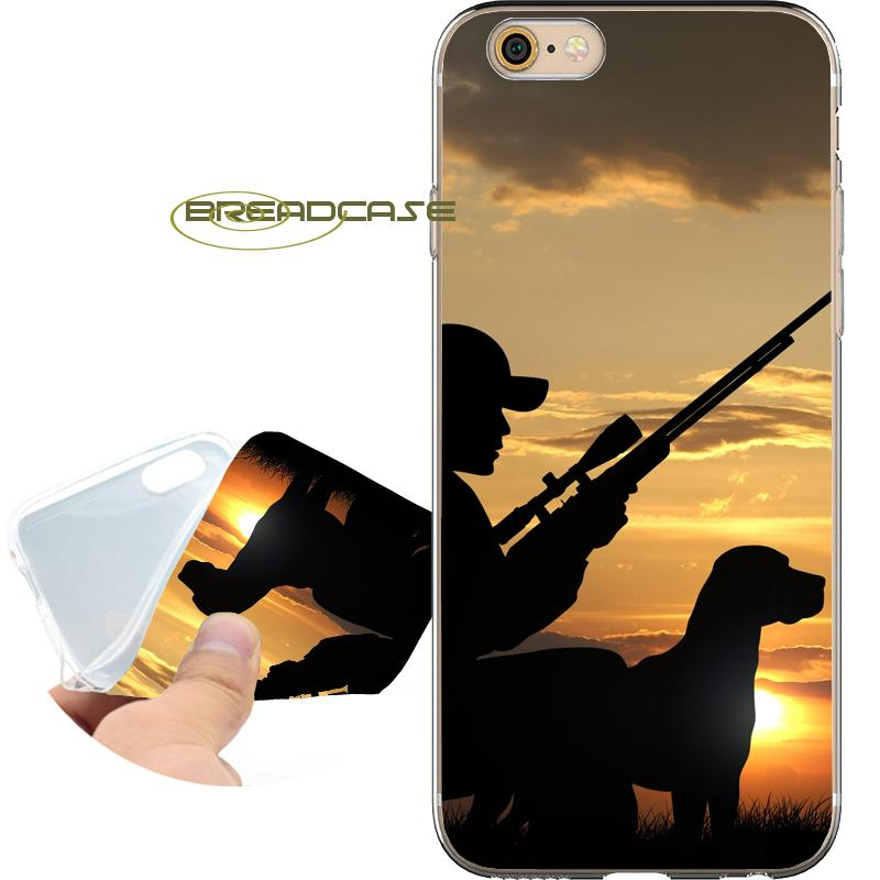 5ffad312749d Coque Hunting Man Dog Sport Cases For IPhone 10 X 7 8 6S 6 Plus 5S 5 SE 5C  4S 4 IPod Touch 6 5 Clear Soft TPU Silicone Cover. Cell Phone ...