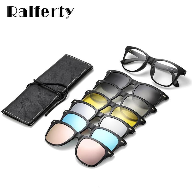 255e4947a Compre Ralferty Óculos De Sol Magnéticos Mulheres Clipe Em Homens De Óculos  De Sol Polarizada Uv400 Alta Qualidade Tr90 3d Visão Noturna Óculos De ...