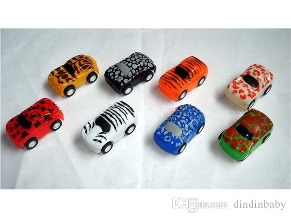 Pull Back Racer Cars animal print Vehicles Friction Powered Mini Car for Toddlers Gift Baby Toys