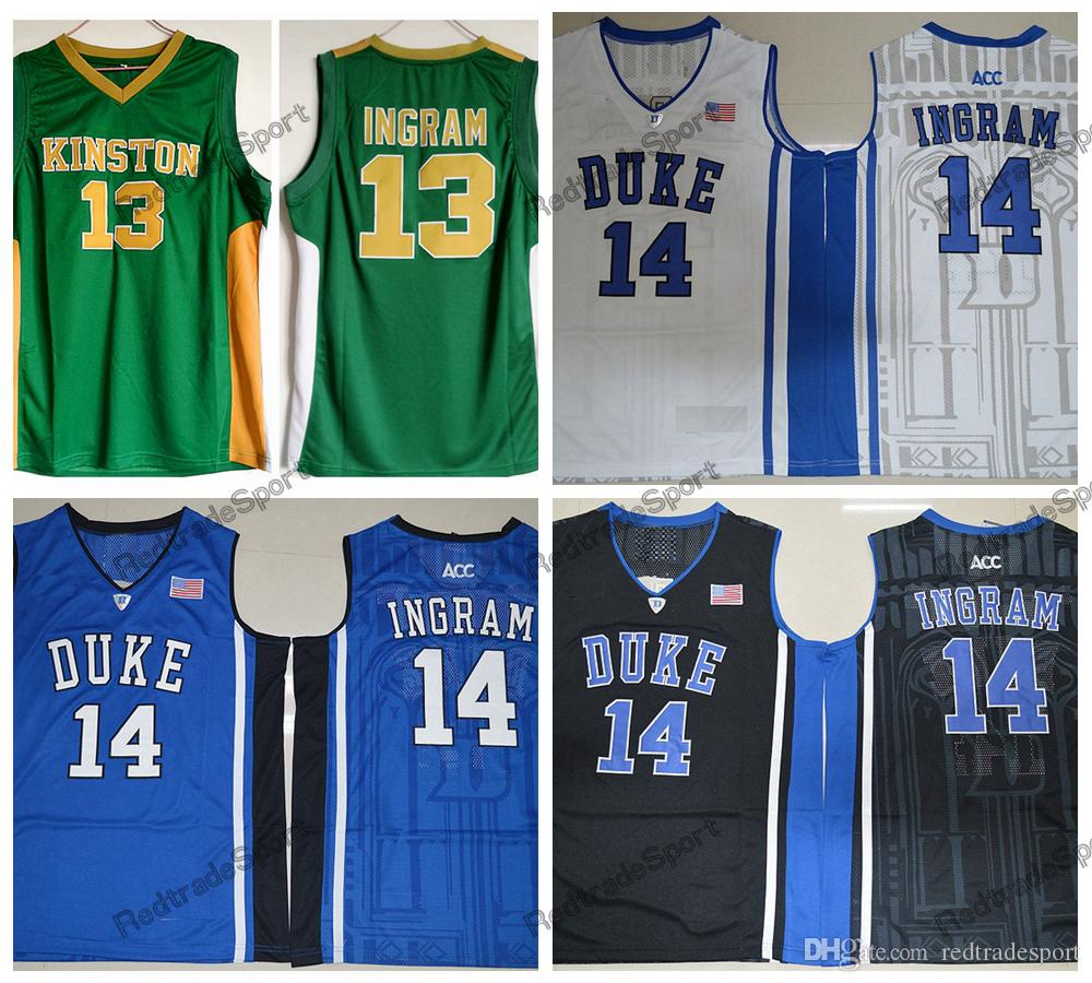 newest 822fb dde8a Mens Vintage Brandon Ingram 13 Kinston High School Basketball Jerseys Cheap  Duke Blue Devils Brandon Ingram College Stitched Shirts