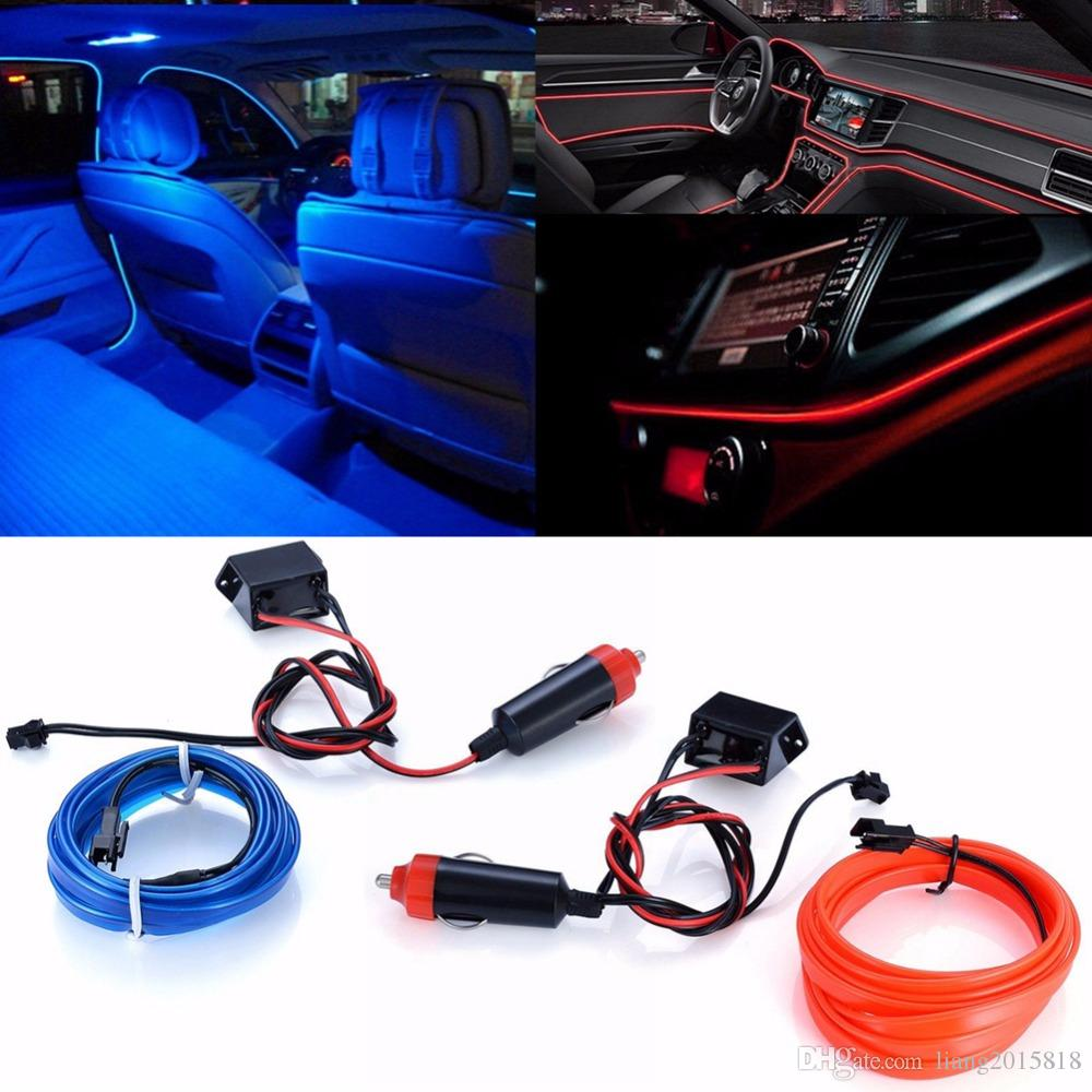 2018 2m El Flexible Car Auto Interior Mood Lighting Dash Board Led Decorative Strip Light Atmosphere L& Cold Ice Blue Red Light Bar From Liang2015818 ...  sc 1 st  DHgate.com & 2018 2m El Flexible Car Auto Interior Mood Lighting Dash Board Led ...