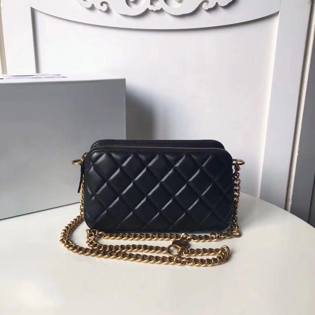 Luxury 2017 Newest Double Zipper Bags Handbag Women Famous Brand Lady Gold  Chain Shoulder Bag Women Real Leather Flap Bag Top Quality 26 Cm Reusable  Grocery ...