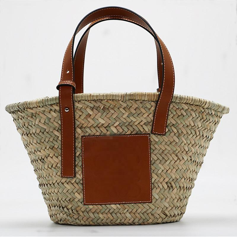 Summer Style Beach Bag Women Straw Shoulder Bag Brand Designer ... b18b2b50dc32b