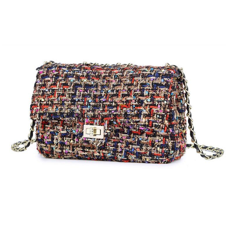 38c6f5e6fe Wool Shoulder Bag Women Bag Luxury Handbags Designer Brand Ladies Chain  Plaid Crossbody Messenger Bags Sac A Main Cheap Designer Handbags Women  Handbags ...