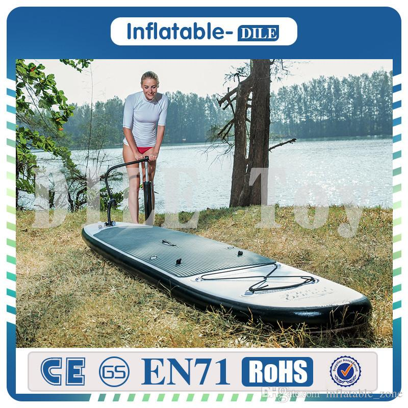 Surfing Sports 300*75*15cm Inflatable Sup Board Stand Up Paddle Board Inflatable Surfboard With Backpack Hand Pump