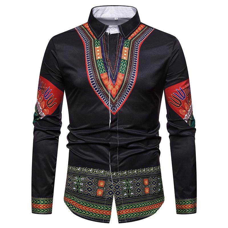 1956690d349565 Luxury Royal Shirt Men Casual Slim Fit Long Sleeve Men National ...