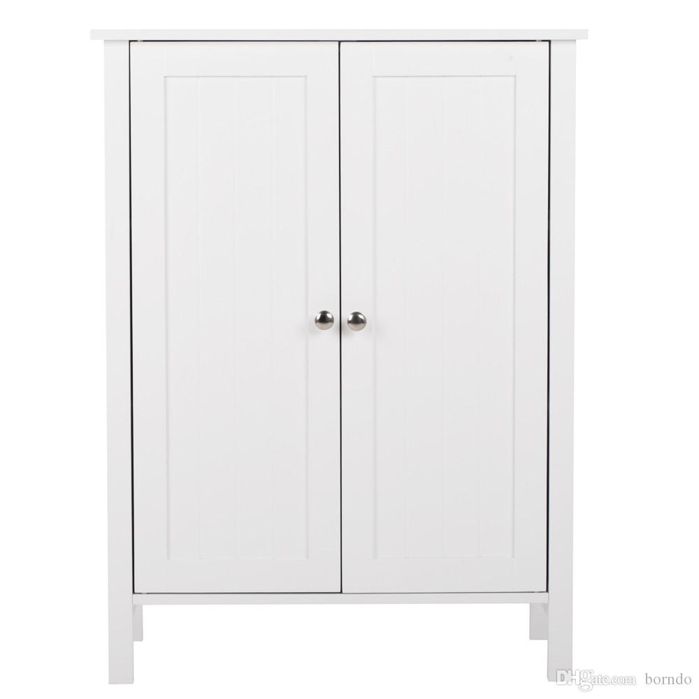 2018 Bathroom Floor Storage Cabinet With Double Door Three Layers