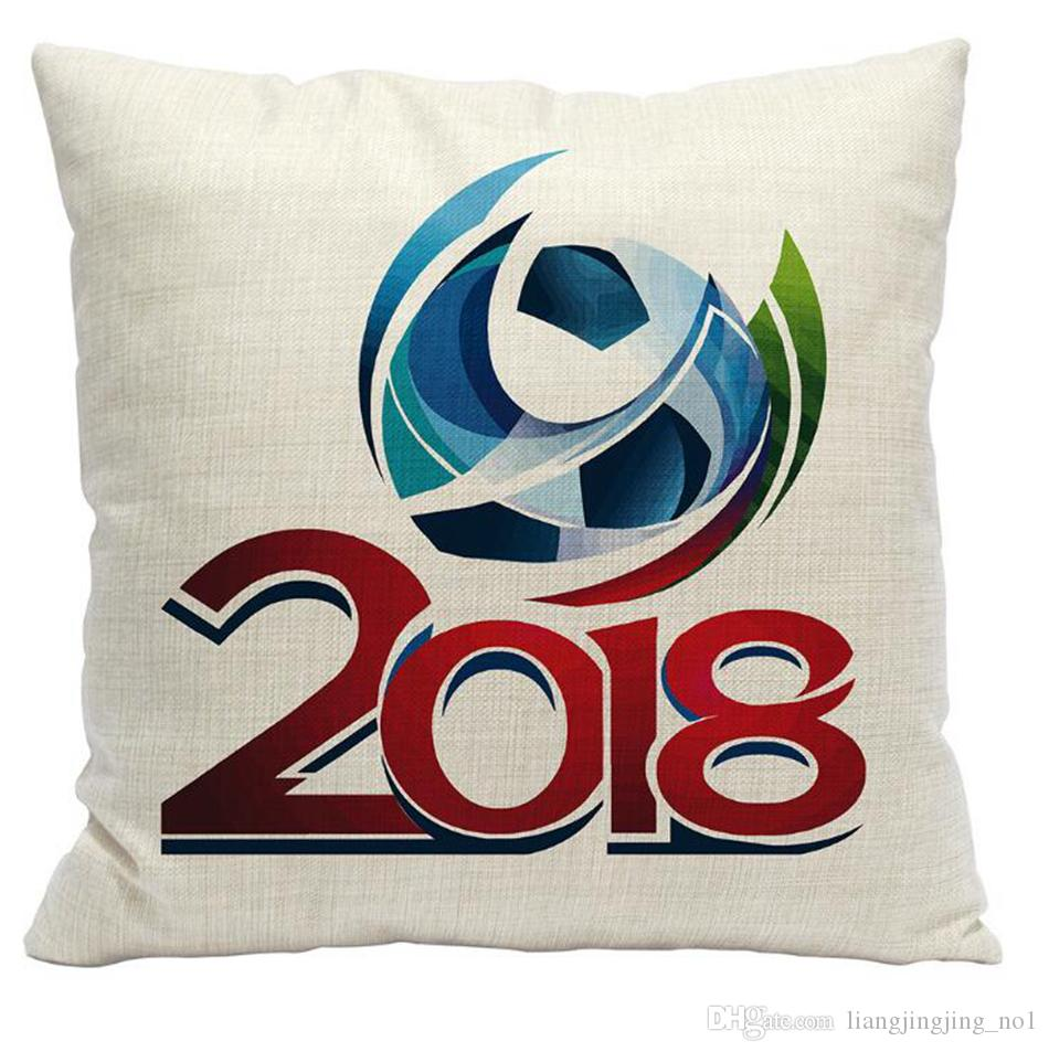 2018 Russia Coppa del Mondo Federa 45 * 45 cm Calcio Federa di lino Federa Home Decor Cuscino OOA5002