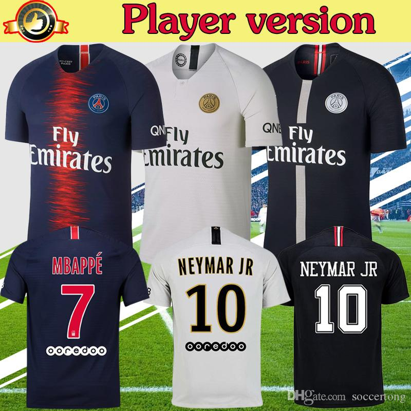 9143221602e 2019 Player Version AJ PSG 2019 Mbappe Soccer Jersey Home Away Third Maillot  De Foot VERRATTI CAVANI 18 19 Soccer Shirt From Soccertong, $23.75 |  DHgate.Com
