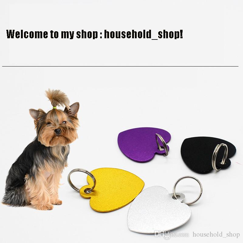 Hot Sale Heart Shape Pets ID Tag Aluminum Blank Pet Charming Pendants Bone Shape Cat Dog Tag Can be Engraved