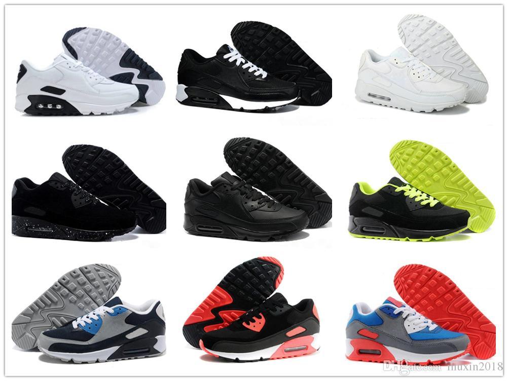 best website 34c98 1c0c9 Acquista Nike Air Max Airmax 90 Sneakers Uomo Scarpe Classic 90 Uomo E Donna  Runn Scarpe Running Da Uomo E Da Donna Cuscino Da Allenamento Sportivo 90  ...