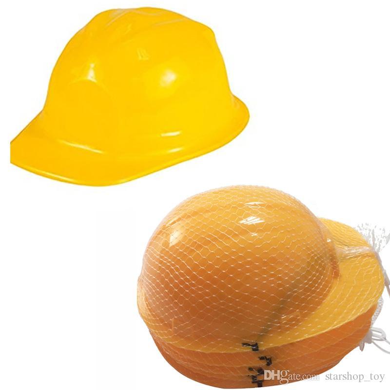 90830b8137e32 Compre Nueva Construcción Amarilla De Plástico Suave Sombrero De Niño Casco  Traje Fiesta De Cumpleaños Favor Niños Casquillo Duro Juguetes De Halloween  TY7 ...
