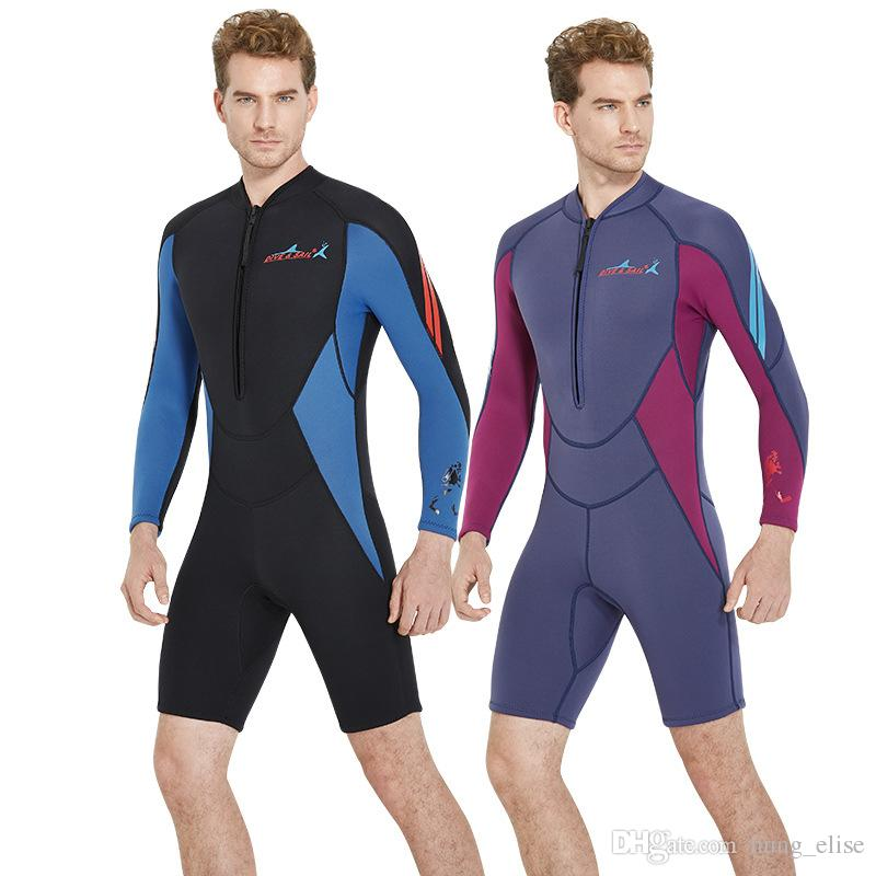 f9810c5438 2019 Neoprene 3mm Wetsuit Scuba Diving Suit One Piece Swimwear Swimming Wet Suits  Dive Rashguard For Men From Hung elise
