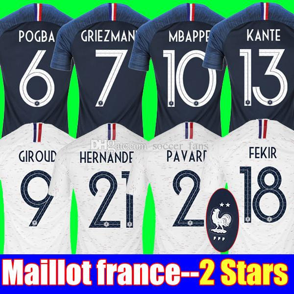 2018 2 Stars GRIEZMANN MBAPPE POGBA Soccer Jerseys 2018 World Cup ... f91c77b23