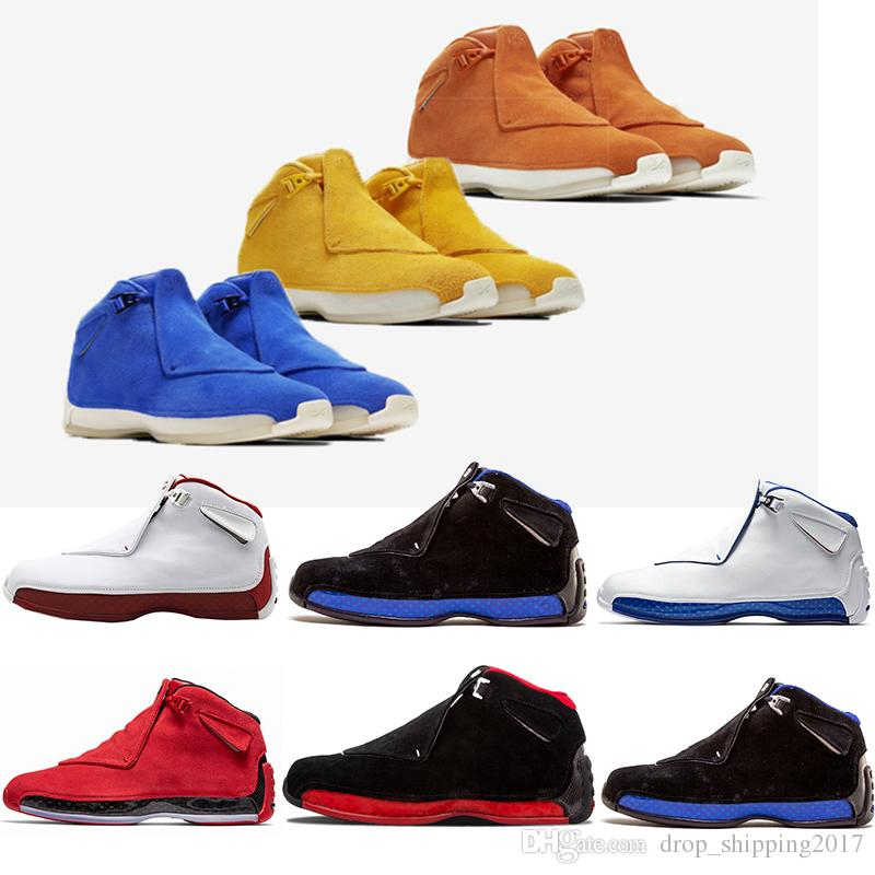 429985782d98 Bestselling Mens Basketball Shoes 18 18s Toro Red Suede Yellow Orange Blue  Royal Cool Grey OG CDP Trainer Athletic Disgner Sport Sneakers Sport Shoes  Mens ...