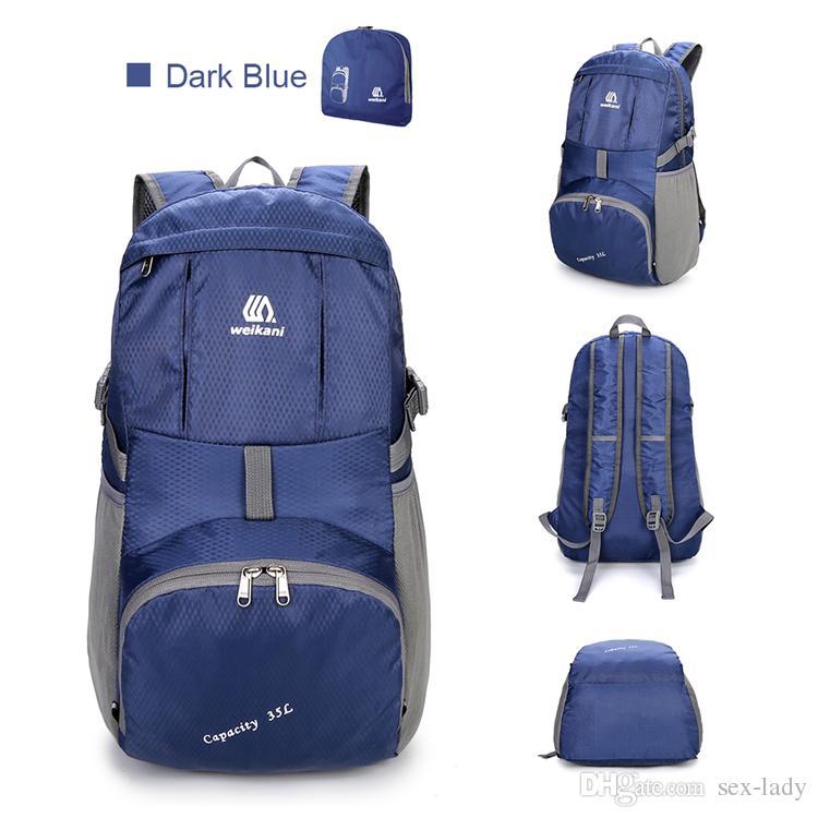 682db51f9f90 Weikani Waterproof Foldable Backpack Nylon Outdoor Climbing Backpack Sports  Folding Bag Men Women Travel Hiking Backpack Accessories Backpacks Backpacks  ...