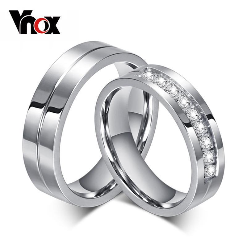 Grosshandel Vnox Cz Hochzeit Band Verlobungsringe Fur Paare Frauen