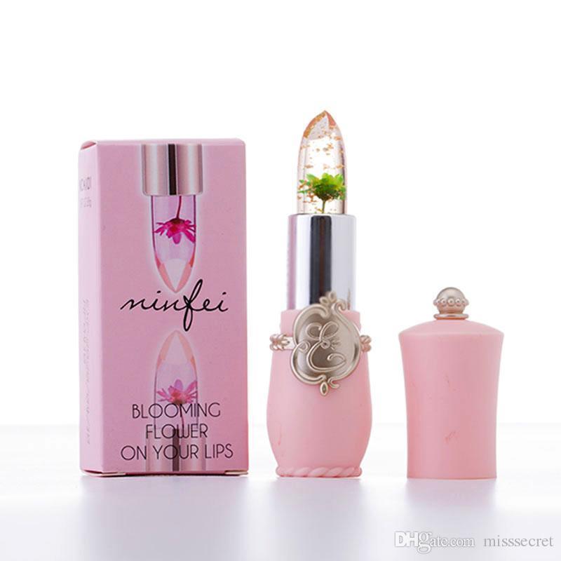 New Long Lasting Moisturizer Transparents Flower Lipstick Cosmetics Waterproof Temperature Change Color Lipstick Balm