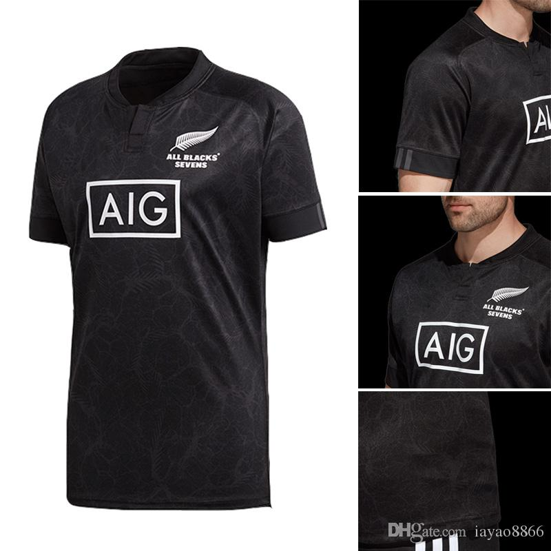 38516c15af8 2019 Maori All Blacks Jersey 2018 19 New Zealand All Black Team Seven  Player Home Maori All Blacks Super Rugby League Shirts Welsh Holden Jersey  From ...