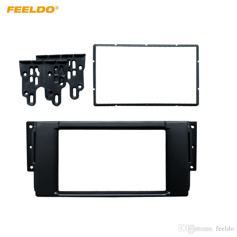 FEELDO 2DIN Car CD/DVD Radio Fascia Plate Panel Frame for Land Rover ...