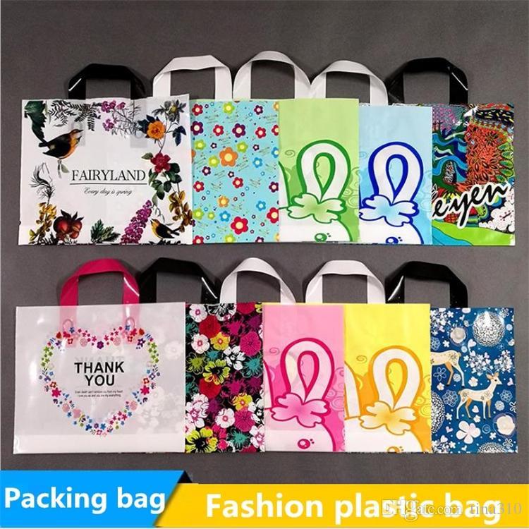New Concave bag plastic bag thickened Gift bag, ornament bag, garment bag, cosmetic bag paking bags I141