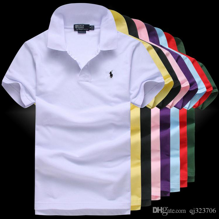 52e2ca25e9c Compre 2019 Hombres Polo Bordado De Alta Calidad Marca De Verano De Los Hombres  Camisa De Polo Business Casual Camisa Polo Sólido Camisa Camiseta Marca De  ...