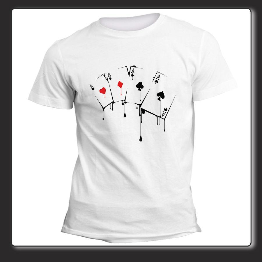 separation shoes 0df26 1bea0 T Shirt Uomo Donna Poker d Assi carte da gioco Asso di cuori