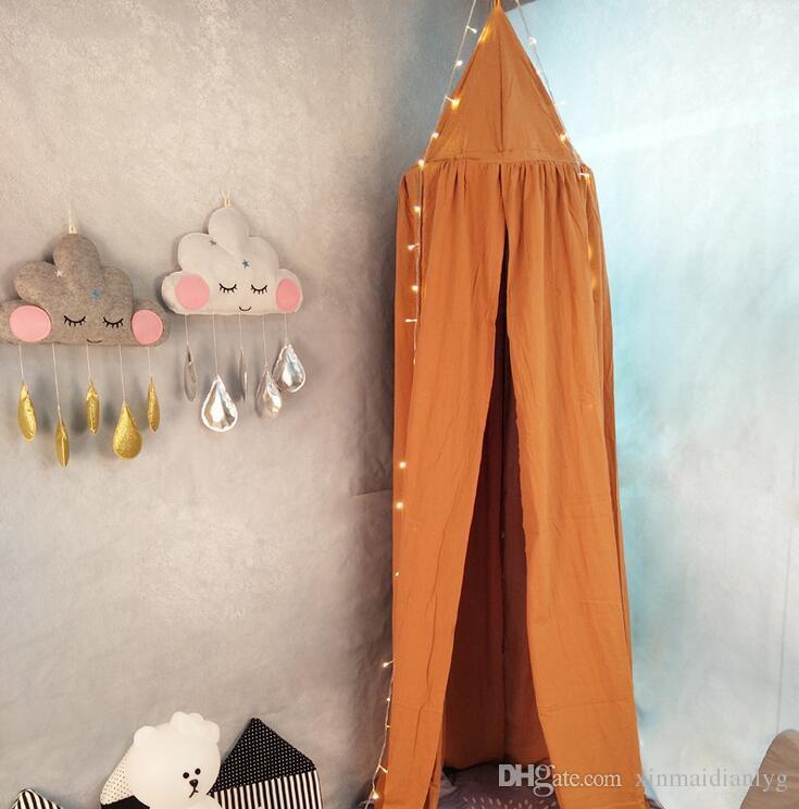 Tenda letto a baldacchino bambini, soffitto tondo appeso a tenda zanzariera baby player Z-5
