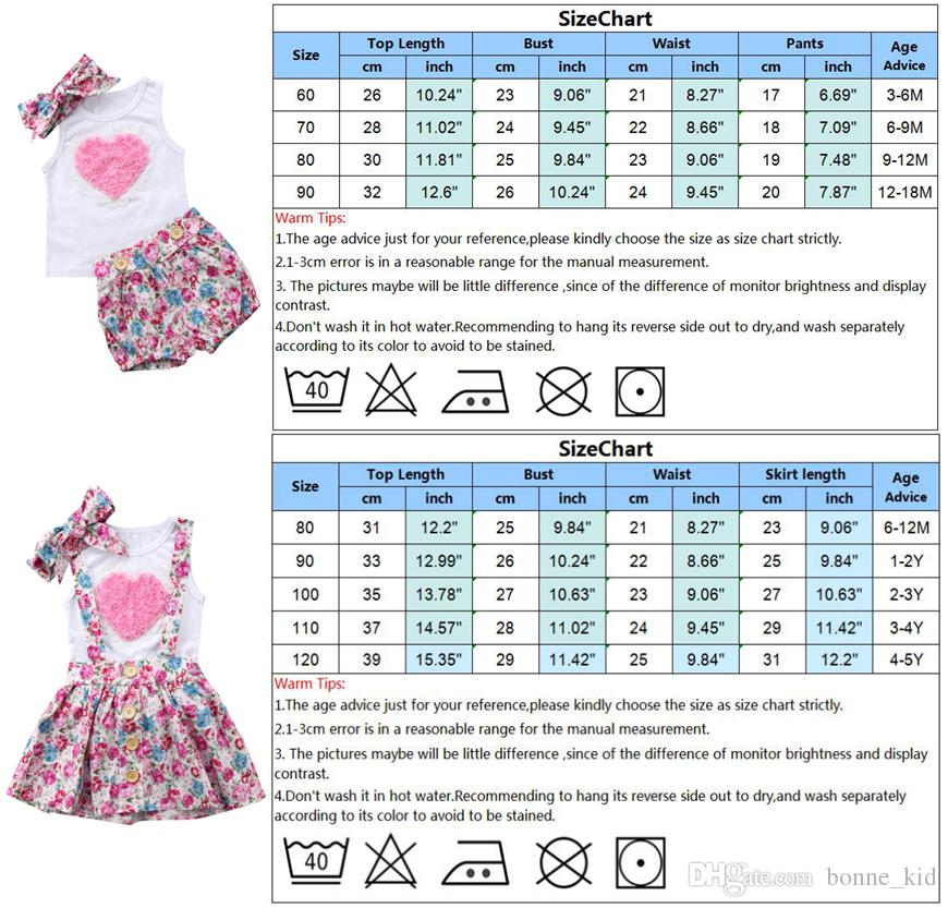 Floral Kids Baby Girls Sister Dress Outfits Clothes T-shirt Vest Pants/ Skirts Headband Set Pink Heart Family Matching Clothing Toddler