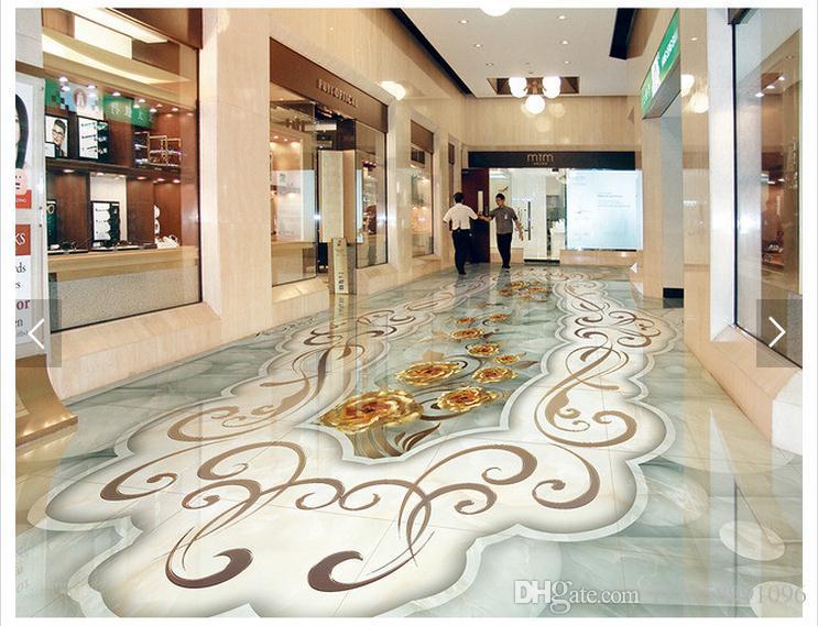 3d Fußboden Aufkleber ~ Großhandel selbstklebende wasserdichte bodenbelag wand aufkleber