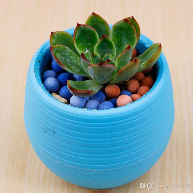 Colorful Mini Flower Pots Planting Pot Gardening Plastic Pots Plant Flowerpot Office Decoration Garden Supplies HH7-897