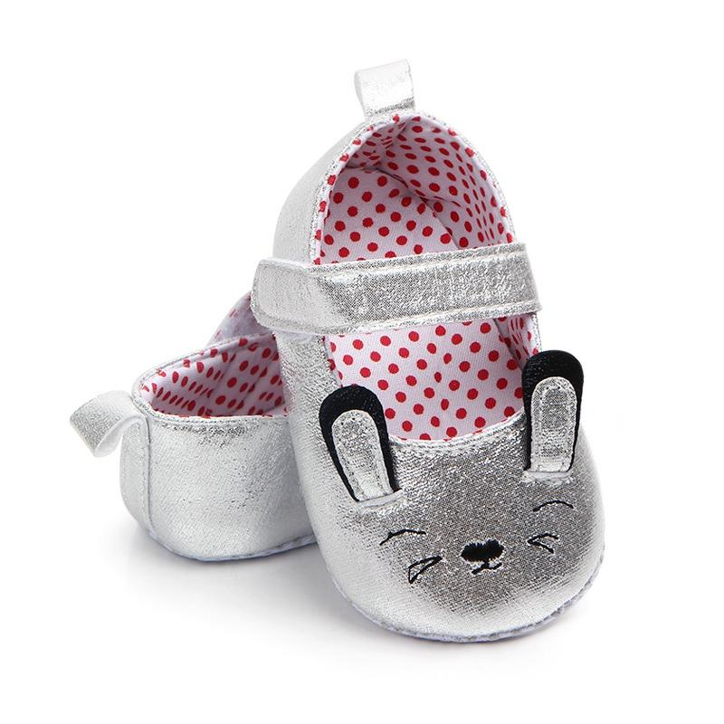 Comfortable Baby Shoes Girls Princess Cartoon Cat First Walkers Newborn Soft Soled Anti-Slip Zapatos s