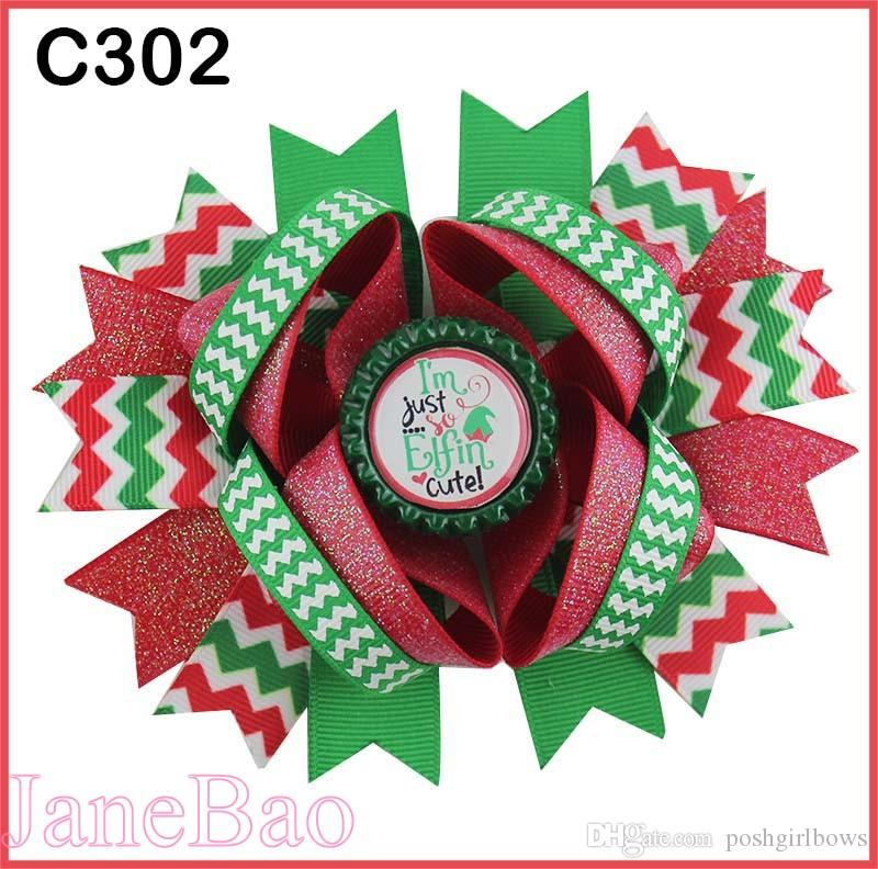 337996ead74a9 Christmas Hair Bows Candy Cane Bow Santa Hair Clip Reindeer Holiday Merry  Christmas Hair Bow B Baby Hair Accessories Baby Girl Hair Accessories From  ...