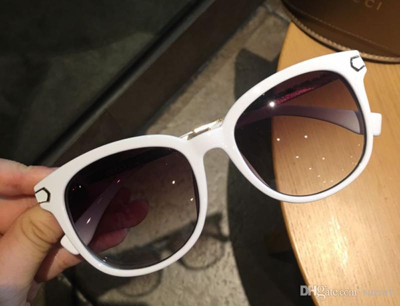 Sonnenbrille Luxus Frauen Marke Designer Mode Oval Sommer Stil Mischfarbe Rahmen Top Qualität UV Schutz Objektiv mit Fall kommen