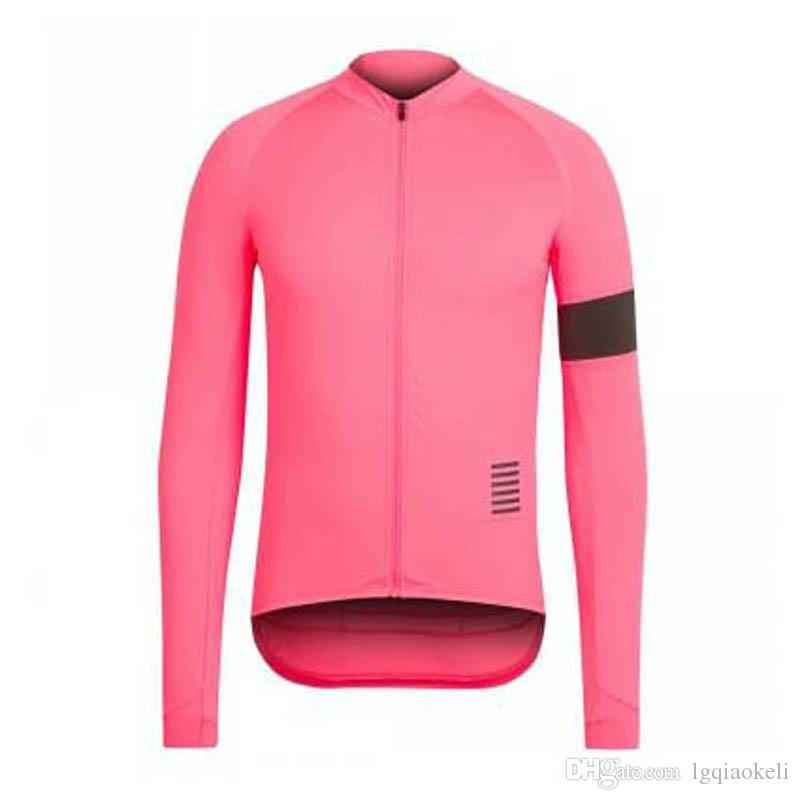 New Hot RAPHA team Cycling long Sleeves jersey 2018 New arrivals bike clothes Multiple Choices Simple Men Long Sleeve D0407