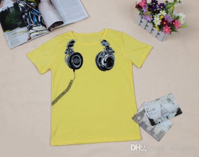 Boy T-shirt bébé Hauts drôle Vêtements de bébé Casual manches courtes Vêtements bébé Tops