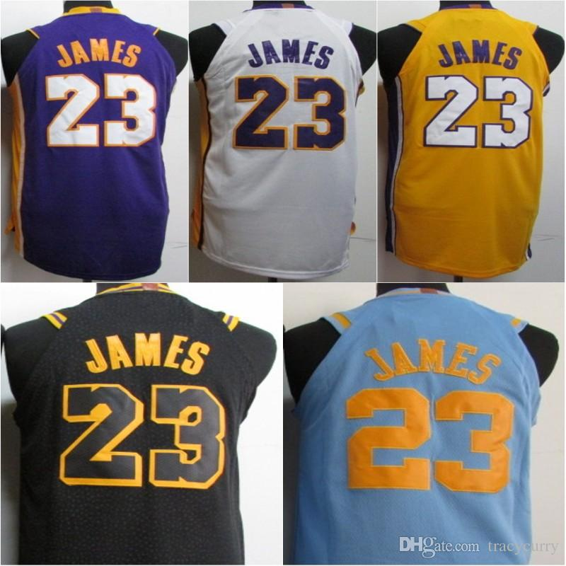 95a7e817ee82 ... spain new 23 lebron james jerseys mens yellow white purple jersey los  angeles king james the