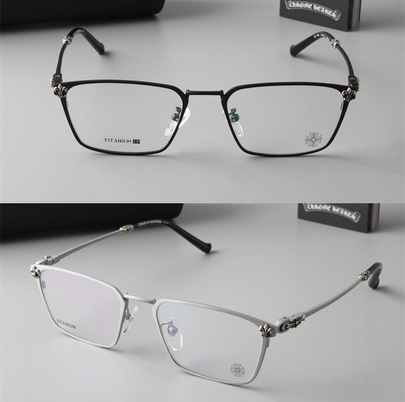88744dd248 Pure Titanium Eyeglass Frame Wide Face Male Half Frame Business Glasses Men  With Glasses Eyeglasses Light Eye Glasses Frames Rx Eyeglass Frames Safety  ...