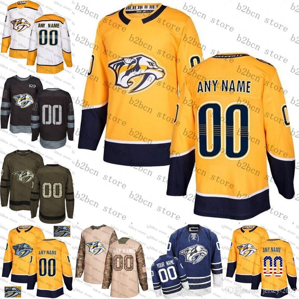 sale retailer cb512 862ee Custom Mens Women Youth Nashville Predators 9 Filip Forsberg 35 Pekka Rinne  59 Roman Josi 76 PK Subban 92 Johansen hockey Jerseys S-3XL